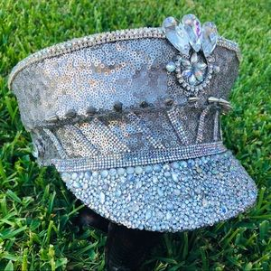 Accessories - Rhinestone Festival Captain's Hat